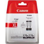 Canon PGI-570XL tintapatron PG fekete Twin pack (eredeti)