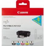 Canon PGI9 multipack fotó BK/C/M/Y/GY (eredeti)