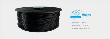 3D FILAMENT 1,75mm ABS Fekete (1kg-os tekercs)