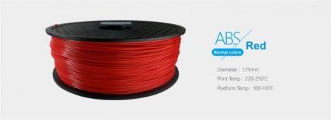 3D FILAMENT 1,75mm ABS Piros (1kg-os tekercs)
