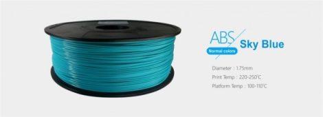 3D FILAMENT 1,75mm ABS Ég kék (1kg-os tekercs)