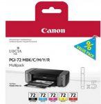 Canon PGI72 matt BK/C/M/Y/R Multi pck (eredeti)