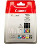 Canon CLI551 tintapatronMULTI C/M/Y/fekete (eredeti)