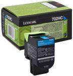 Lexmark 70C2HC0 (702HC) toner ciánkék 3K (eredeti) CS310/410