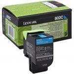Lexmark 802C toner ciánkék; 1K (eredeti) 80C20C0