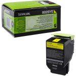 Lexmark 802SY toner sárga; 2K (eredeti)  80C2SYE