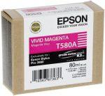 Epson T580A tintapatron Vivid magenta 80ml (eredeti)