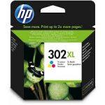 HP F6U67AE Pat színesor No.302XL (eredeti)