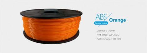 3D FILAMENT 1,75mm ABS Narancssárga (1kg-os tekercs)