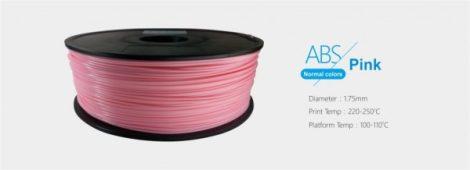 3D FILAMENT 1,75mm ABS Rózsaszín (1kg-os tekercs)