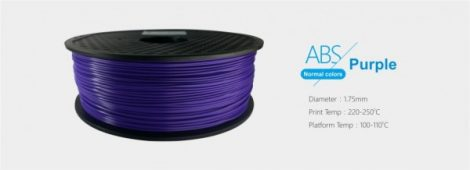 3D FILAMENT 1,75mm ABS Lila (1kg-os tekercs)