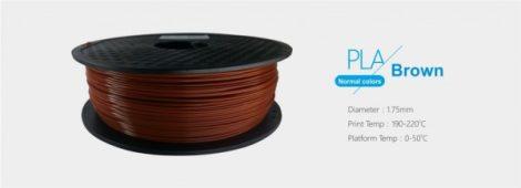 3D FILAMENT 1,75mm PLA Barna /1 kg-os tekercs/