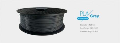 3D FILAMENT 1,75mm PLA Szürke /1kg-os tekercs/