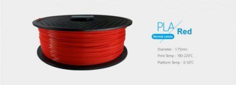 3D FILAMENT 1,75mm PLA piros /1kg-os tekercs/