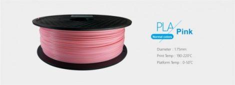 3D FILAMENT 1,75mm PLA Rózsaszín /1kg-os tekercs/