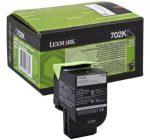 Lexmark 702K fekete toner (eredeti)  70C20K0