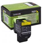Lexmark 702Y sárga toner (eredeti)  70C20Y0