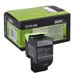 Lexmark 802K fekete toner; 1K (eredeti)  80C20K0