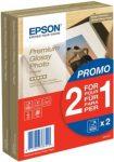 Epson 10x15 Premium Fényes Fotópapír 2x40Lap 255g (eredeti)