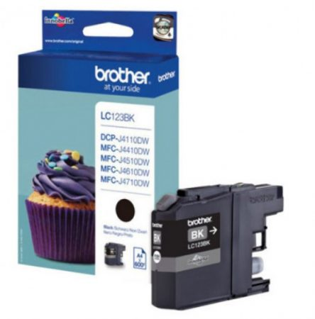 Brother LC123BK tintapatron fekete (eredeti)