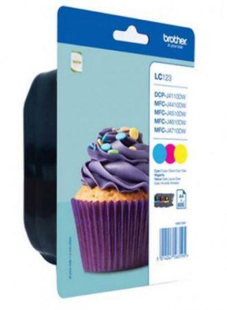 Brother LC123CMY tintapatron csomag színes (eredeti)