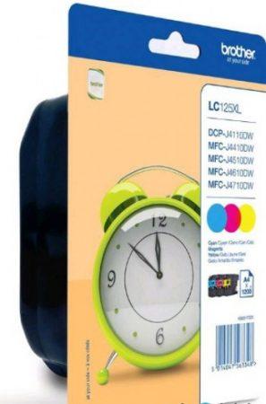 Brother LC125XLCMY tintapatron csomag színes (eredeti)