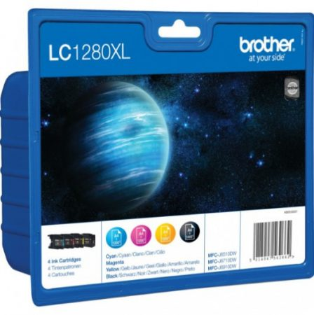 Brother LC1280XLBKCMY tintapatron csomag (eredeti)