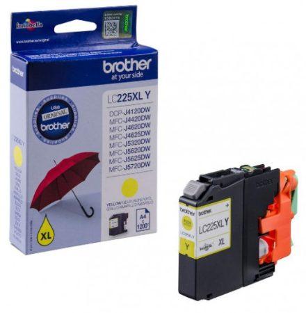 Brother LC225XLY tintapatron sárga (eredeti)