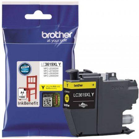 Brother LC3619XLY tintapatron sárga (eredeti)