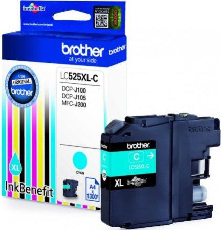 Brother LC525XLC tintapatron kék (eredeti)