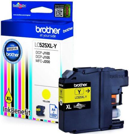 Brother LC525XLY tintapatron sárga (eredeti)