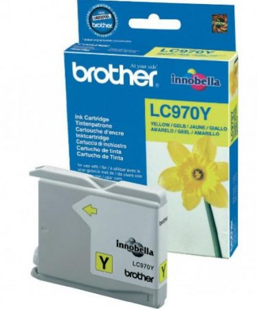 Brother LC970Y tintapatron sárga (eredeti)